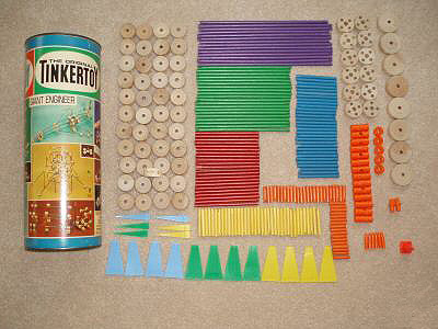 colored wooden blocks and their container